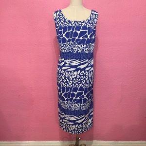 Blue dress. 16w